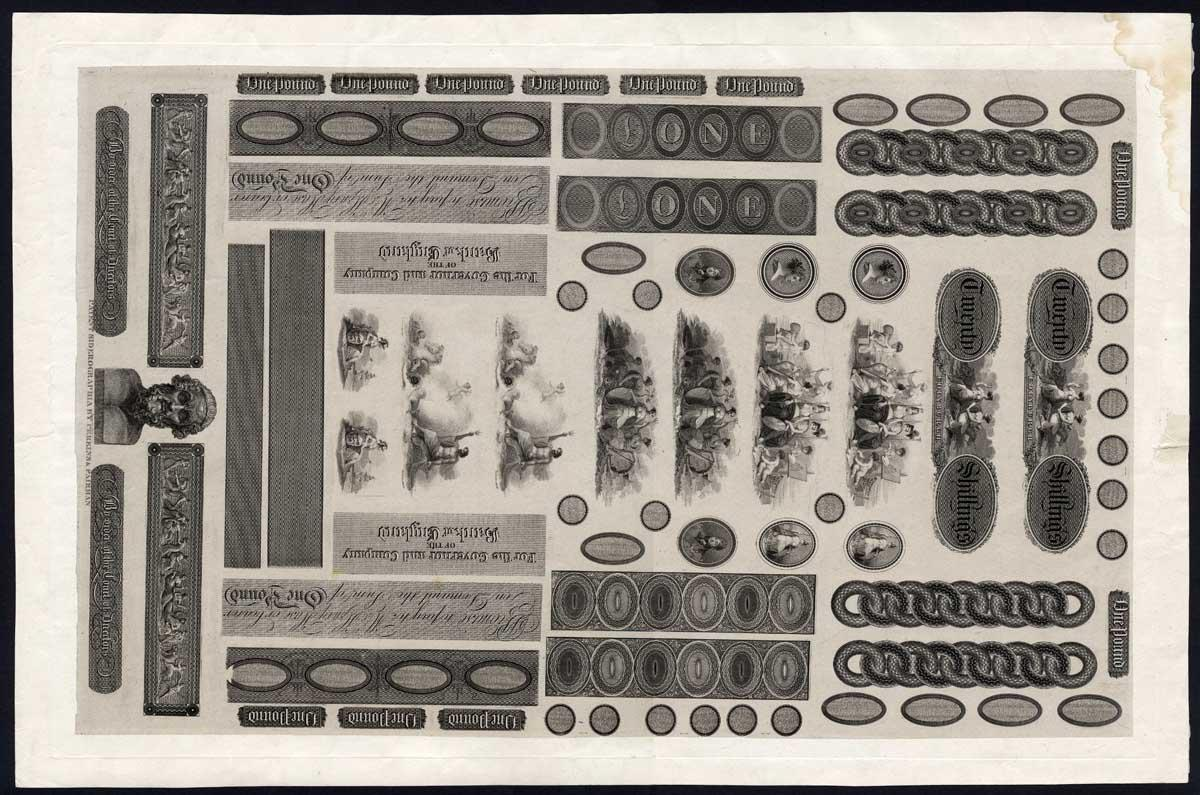 Large Sheet of Engine Turned Samples by Perkins Fairman